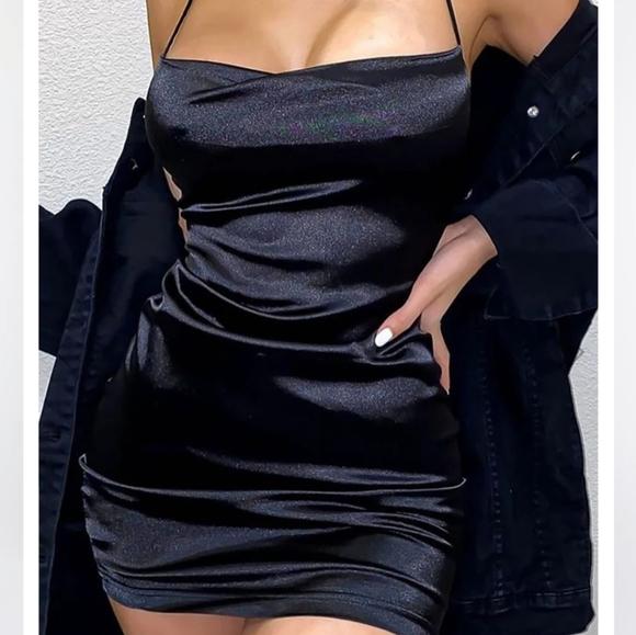 Take Me Higher Satin Mini Dress